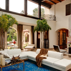 Mediterranean Living Room by Tamara Bickley Design