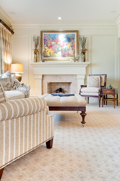 Traditional Living Room by Fowler Interiors