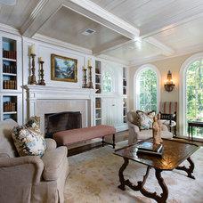 Traditional Living Room by Kathleen Kellett Interiors