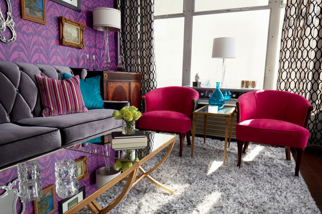 Contemporary Living Room by Le Chic Maison