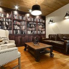 Industrial Living Room by ideco par Brigitte Poitras