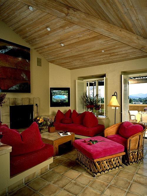 wohnzimmer mit terrakottaboden ideen design bilder houzz. Black Bedroom Furniture Sets. Home Design Ideas
