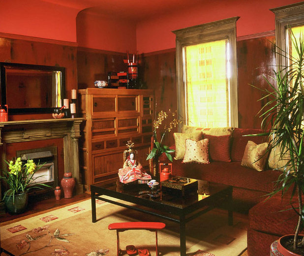 Asian Wohnzimmer von Audrey Brandt Interiors
