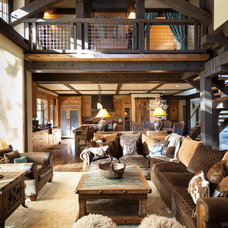 Rustic Living Room by High Camp Home