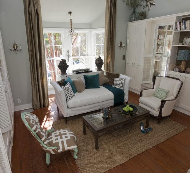 Farmhouse Living Room by Van Wicklen Design