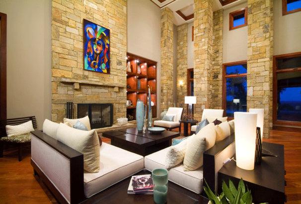 Eclectic Living Room by Karen Javier