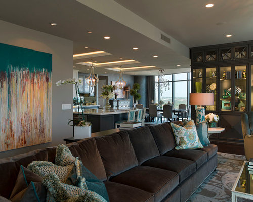 Brown And Teal Home Design Ideas, Pictures, Remodel And Decor