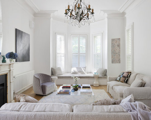 Elegant Formal Light Wood Floor Living Room Photo In Sydney With White Walls And A Standard Save Australian Interior Design Awards