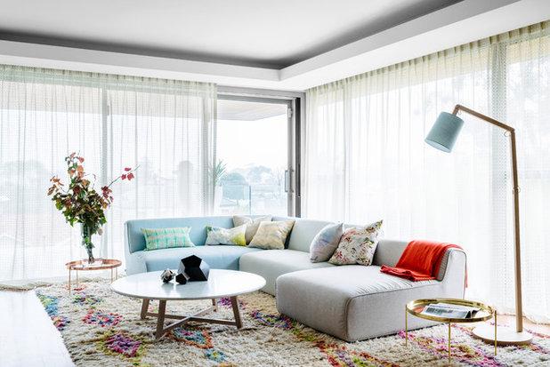 Modern Wohnbereich by Kim Pearson Pty Ltd