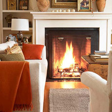 Traditional Living Room Autumn Decorating Home