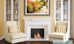 Autumn Landscape Art Over the Fireplace