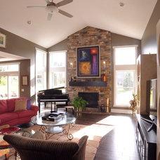 Traditional Living Room by Weaver Custom Homes