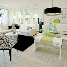 Contemporary Living Room by Kendall Marcelle Design Assoc. Inc.