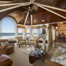 Tropical Living Room by Gacek Design Group, Inc.