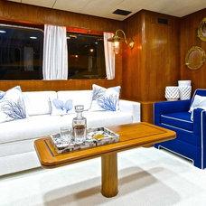 Beach Style Living Room by Fein Zalkin Interiors