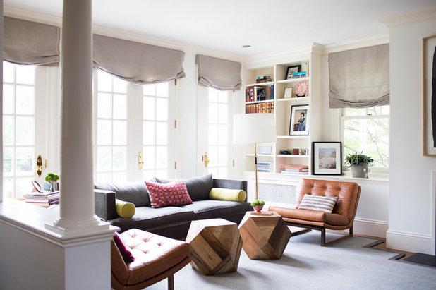 Transitional Living Room by Davis Scott Studio