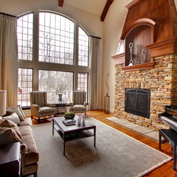 Indianapolis Cathedral Ceiling Living Room Design Ideas