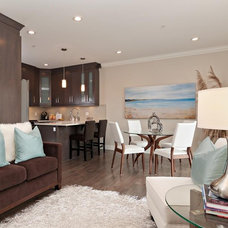 Contemporary Living Room by Positive Space Staging + Design, Inc.