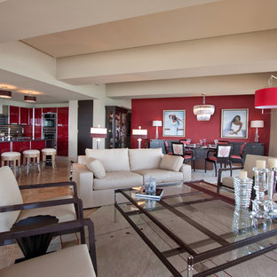 75 Beautiful Living Room With Red Walls Pictures & Ideas | Houzz