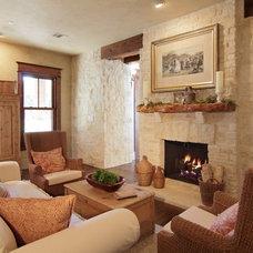 Traditional Living Room by SILVERTON CUSTOM HOMES