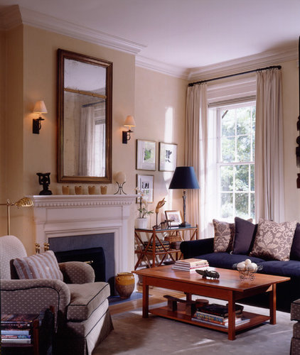 Traditional Living Room by Gleicher Design - Architecture & Interiors