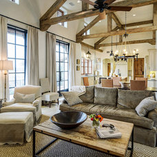 rustic living room by Design Visions of Austin