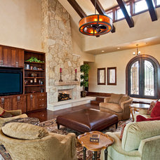 Traditional Living Room by Jenkins Custom Homes