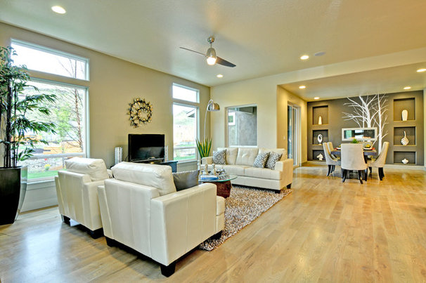 Contemporary Living Room by Boise Hunter Homes