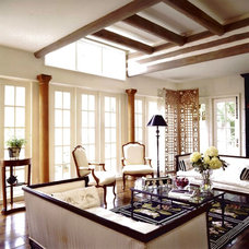 Traditional Living Room by Michael Abraham Architecture
