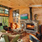 Deep Creek Lake Md Waterfront Log Home Traditional
