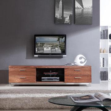 B-Modern Promoter TV Stand   Light Walnut