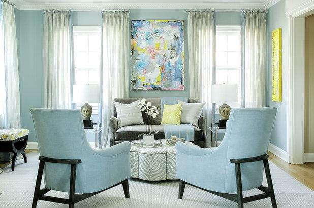 Transitional Living Room by Karen B Wolf Interiors, Associate ASID