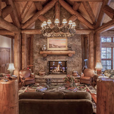 Rustic Living Room by Kelly & Stone Architects