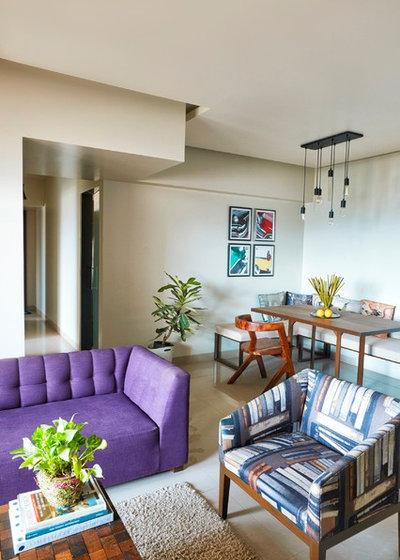 Eclectic Living Room by NaCL- Natasha Aggarwal   Creative Living