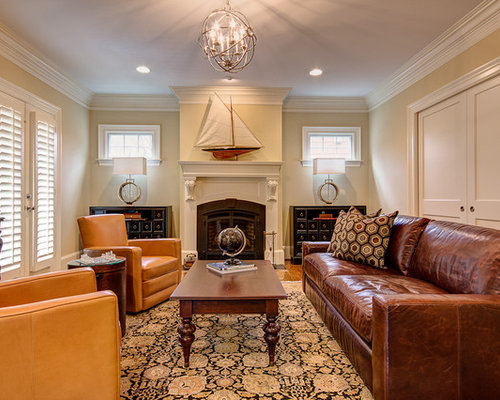 Leather Living Room Furniture Houzz Part 82