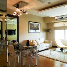 Contemporary Living Room by Vicki Bitanga