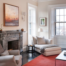 Transitional Living Room by Pinney Designs