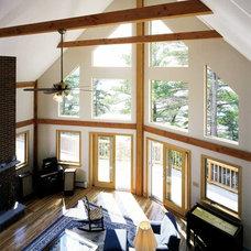 Modern Living Room by Habitat Post & Beam, Inc.