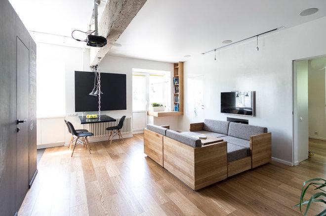 Современный Гостиная by Архитектурная студия Ruetemple
