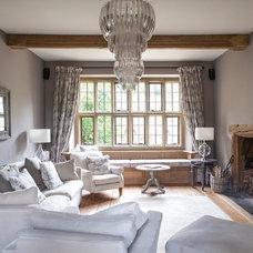 Farmhouse Living Room by Gabriel Holland Interior Design