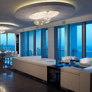 Bal Harbour penthouse living room
