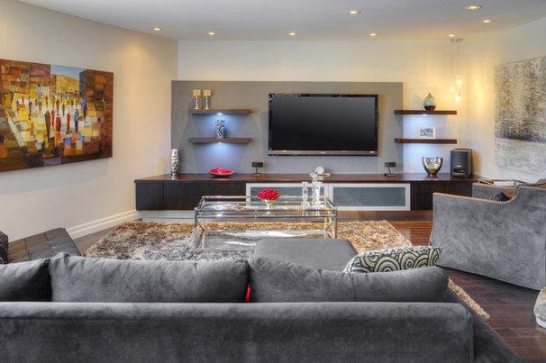 Modern Living Room by Braam's Custom Cabinets