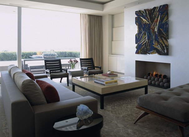 Contemporary Living Room Balboa Peninsula Residence