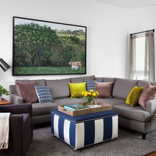 Contemporary Living Room by Sarah Stacey Interior Design