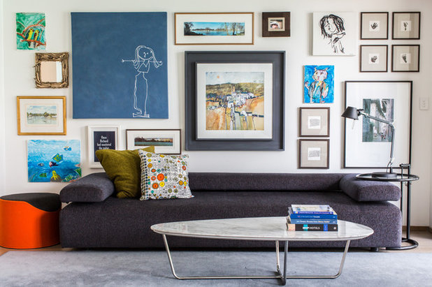 Eclectic Living Room by O'Meara Jones