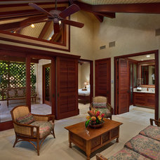 Tropical Living Room by Rick Ryniak Architects