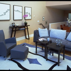 Modern Living Room by Square One Interiors
