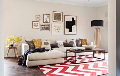 Relookez votre salon avec un tapis à motifs
