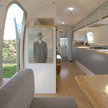 Bamboo Flooring and Plywood in Airstream