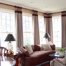 Traditional Living Room by Artistic Window Creations